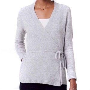 Loft gray ballet wrap sweater